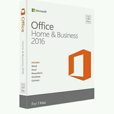 Microsoft Office 2016 for Mac - Home and Business- KEY AND DOWNLOAD!