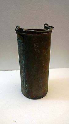Copper Bucket with wrought Iron.Handle
