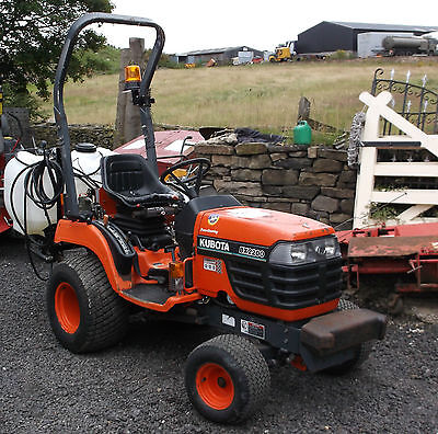 Compact tractor.Kubota BX 2200 with rear Sprayer , Direct Council,