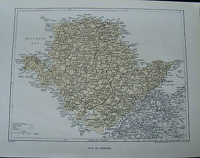 Old map of Anglesey 1923