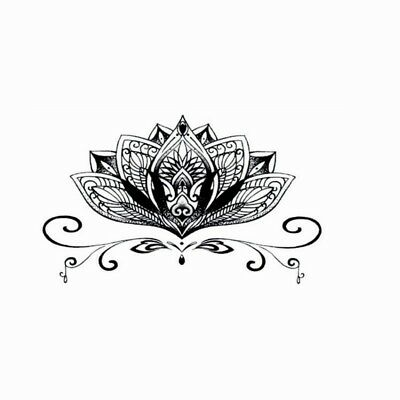 10x6cm Sheet High Quality Supreme Fake Tattoo Lotus Flower Temporary Body Art