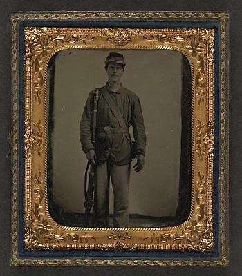 American Civil War,Unidentified Union Soldier,Bayoneted Musket,1861-1865