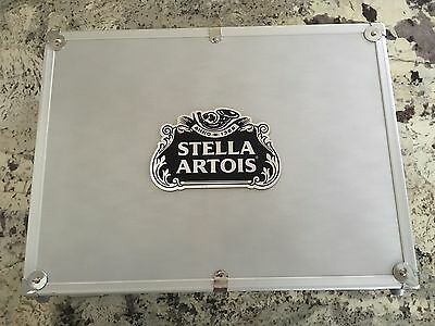 Rare Stella Artois Metal Collectible Briefcase Kit With Many Accessories