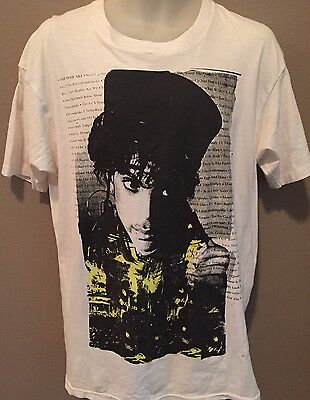 VINTAGE PRINCE CONCERT SIGN O' Of THE TIMES T SHIRT Tour Movie Music 1987 L