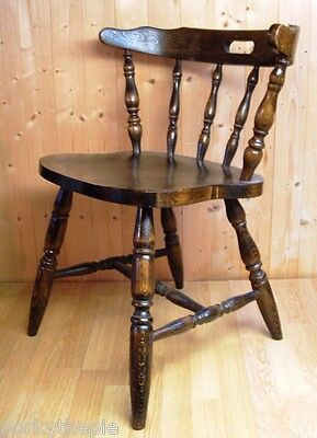Solid Old Oak Chair. Shop display vintage prop hallway dining