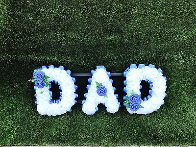 Silk Dad Funeral Flowers  Wreath Grave Tribute Any Colour
