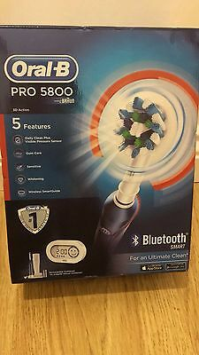 Braun Oral-B PRO 5800 SmartSeries Electric Toothbrush 3D Bluetooth NEW