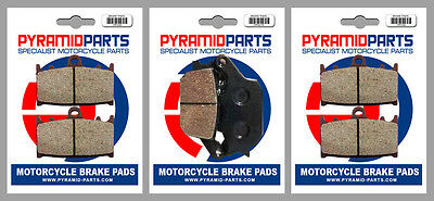 Front & Rear Brake Pads for Suzuki GSF650 Bandit 07-15 GSF1200 06 GSF1250 07-15