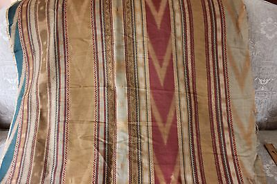 "French Antique Napoleon III Woven Ethnic Ikat Home Decor Linen Fabric~2yds11""L"