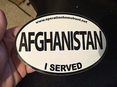 AFGHANISTAN I Served Bumper Sticker Army Navy Marines Air Force Military