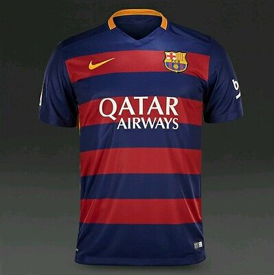 Nike Fc Barcelona Authentic  Home Football Shirt Mens Size Large 658794 422