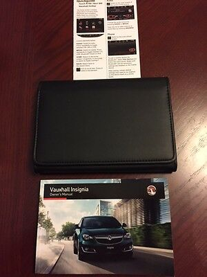 VAUXHALL INSIGNIA HANDBOOK + QUICK GUIDE + WALLET years 2014    2016