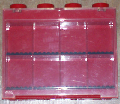 Lego Red Storage Minifigure Display Case For 8 Minifigures