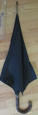 Vintage  Paragon S. Fox England  Gentlemen  Black Umbrella with Bamboo Handle