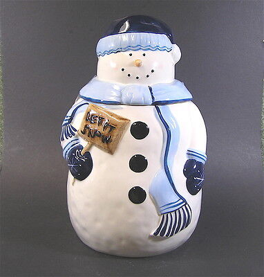 Mrs. Fields Limited Edition  Christmas Snowman Cookie Jar