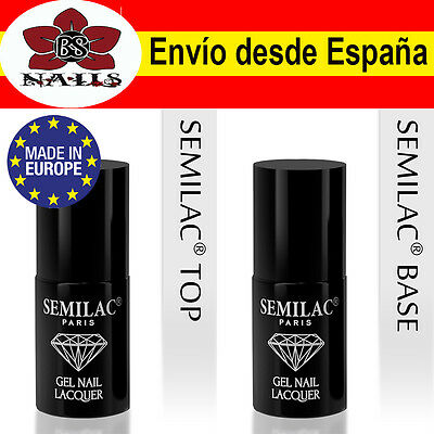 Top Coat / Base Coat Semilac calidad Europea 7 ml esmalte permanente uñas gel