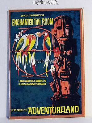 "ENCHANTED TIKI ROOM Fridge MAGNET  2"" x 3"" art NOSTALGIC ADVENTURELAND VINTAGE"