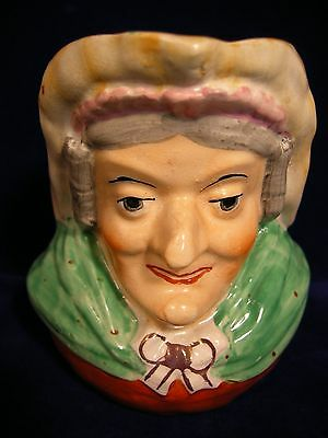 """English Mid Victorian Pearlware """"Judy (of Punch and Judy)"""" Jug c. 1850"""