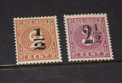 Netherlands Indies 1902 Number Surcharges Issues X 3 Mint/h