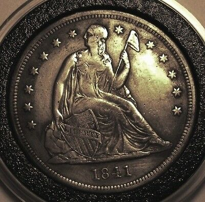 1841 Seated Liberty Dollar Xf/au Rare Low Mintage