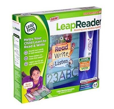 LeapFrog LeapReader Learn Reading and Writing System Educational Toy Game Pink