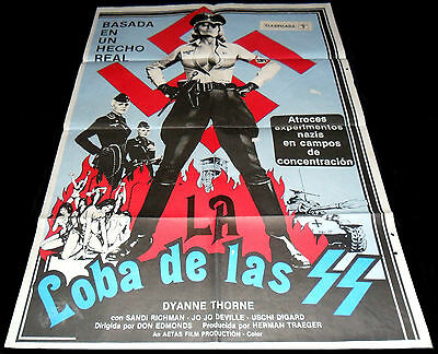 1975 Ilsa: She Wolf of the SS ORIGINAL SPAIN POSTER Exploitation Nazisploitation