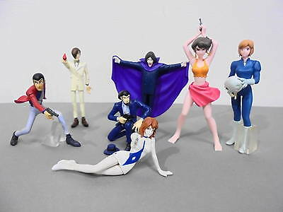 Lot of 7 Lupin the Third 3rd Gashapon figure set