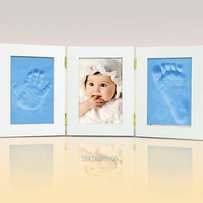 Baby Care Air Drying Soft Clay Kid Hand/Footprint Imprint Kit Happy Print Memory