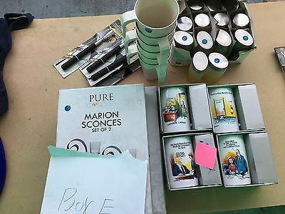 mugs, sconces, magnetic tools spice jars mystery box reduced to clear market lot