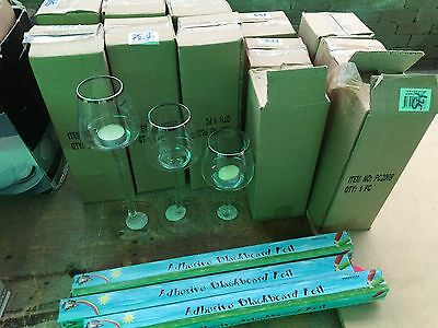 wine brandy glass tea candle holder mystery box reduced to clear market lot