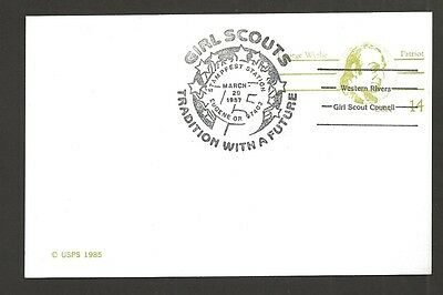 1987 US Girl Scouts Western Rivers Eugene OR 75th anniversary cancel