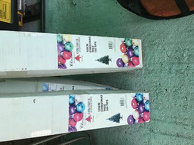 3 120cm christmas trees 160 tips small size reduced to clear
