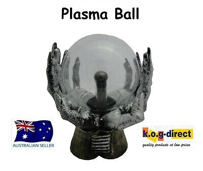 Gothic Black And Silver Double Claw Holding  Plasma Ball Electric  Hw-37