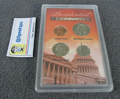 Presidential Proof 4 Coin Collection by American Historic Society in nice Case
