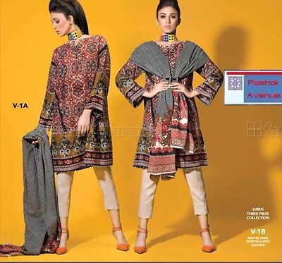 Gul Ahmed 100% Original Winter Collection 2016 Unstitched Suit V-1A