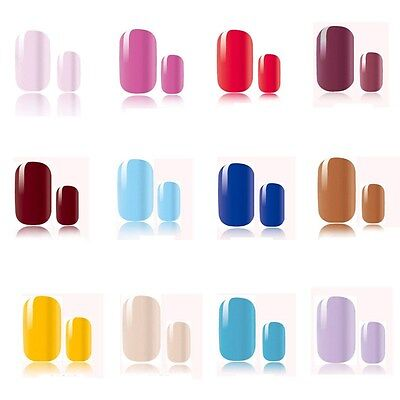Pure Acrylic Design False French Nails Full Nail tips Fake Art Cover Manicure