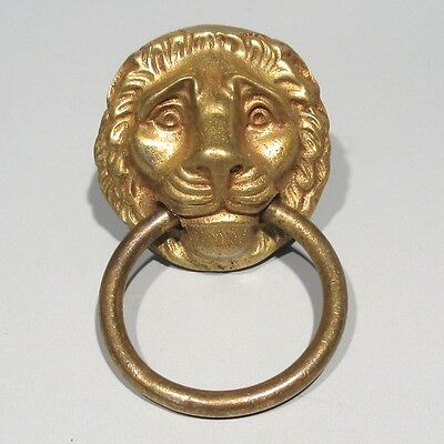 Antique FrenchBronze Drawer Pull Handle, Empire Style, Lion's Head