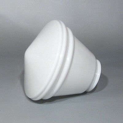 Vintage French Art Deco White Glass Globe Ceiling Shade
