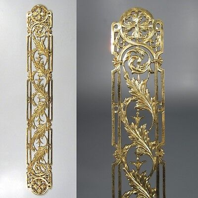 Antique French Gilded Bronze Door Back Plate, 20 ½ inches, Chateau Style