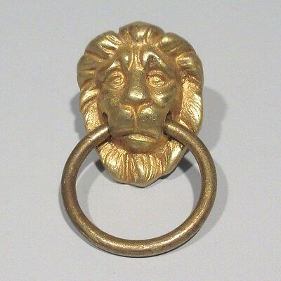 Antique French Bronze Drawer Pull Handle, Empire Style, Lion's Head
