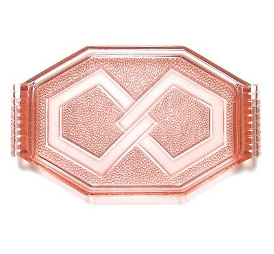 Vintage French Art Deco Pink Glass Tray Platter Dish
