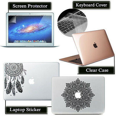 Hard Case+Keyboard Cover+Screen Protecotor+Laptop Sticker for Macbook 11 13 15''