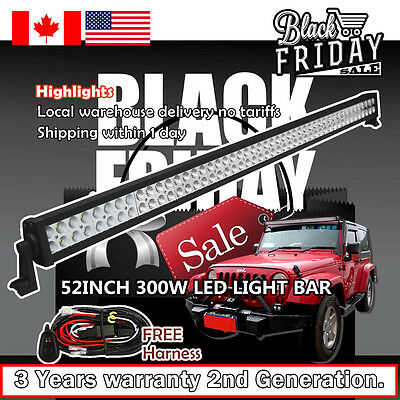 52 inch LED Light Bar UTE ATV SUV 4WD Jeep Ford Off Road Driving Fog Truck 50