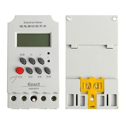 Din AC 220V 25A Rail Digital Programmable Electronic Timer Switch For KG316T-II