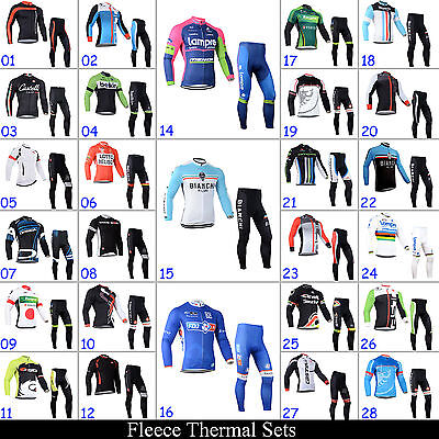 New Men's Winter Bike Clothing Cycling Jerseys Pants Suits Fleece Sports Wear