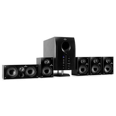 5.1 Active Surround Sound Speakers Home Cinema Hifi Music Stereo Subwoofer Black