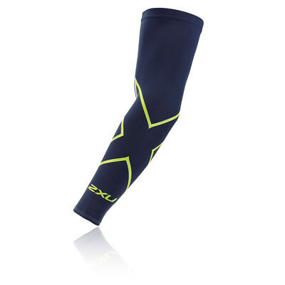 2XU Unisex Navy Blue Compression Running Training Arm Sleeve Guard Single