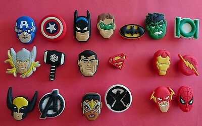 PINS Charms Marvel Superheroes Zapatos Crocs & Pulseras Jibbitz Lot
