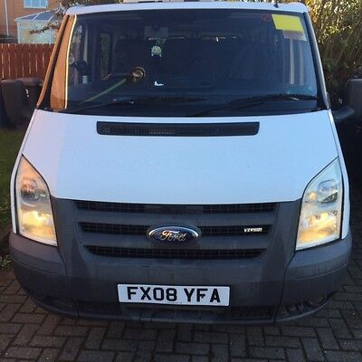 Ford Transit 2008 Wheelchair Accessible Minibus 8 Seater In White!!!!!!!!