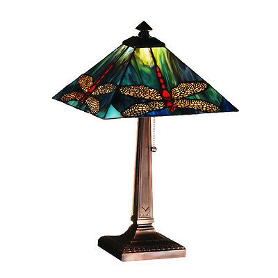 "Meyda Home Indoor Bedroom Decorative 21""H Prairie Dragonfly Table Lamp"